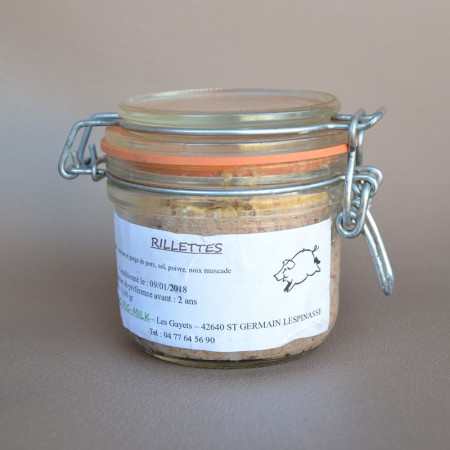 Rillettes en pot